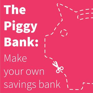 The piggy bank make your own savings bank for Create your own piggy bank