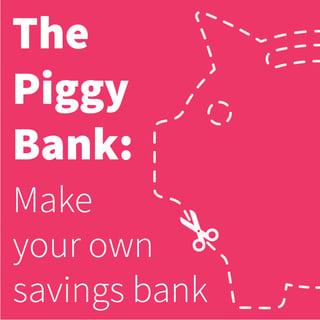 The piggy bank make your own savings bank for Make your own piggy bank