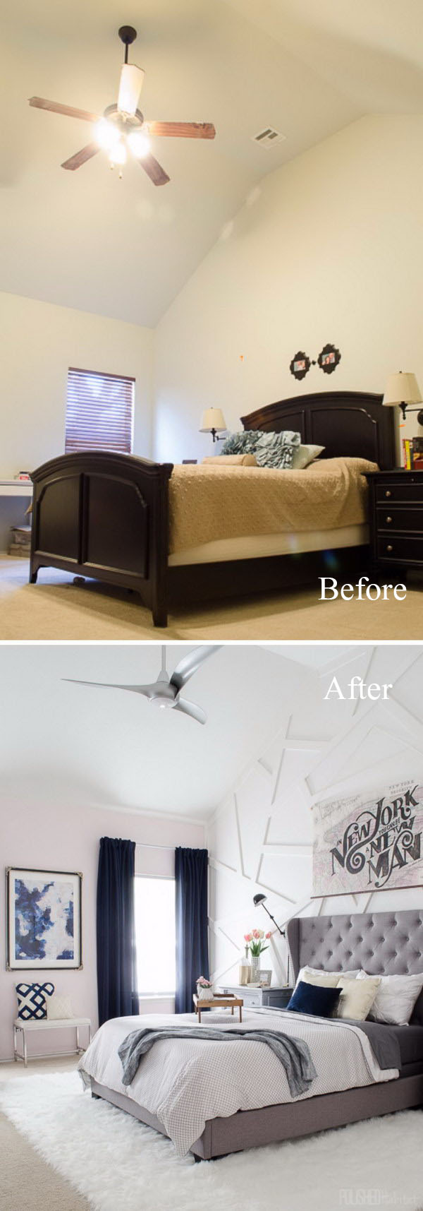 how to make your bedroom look rich